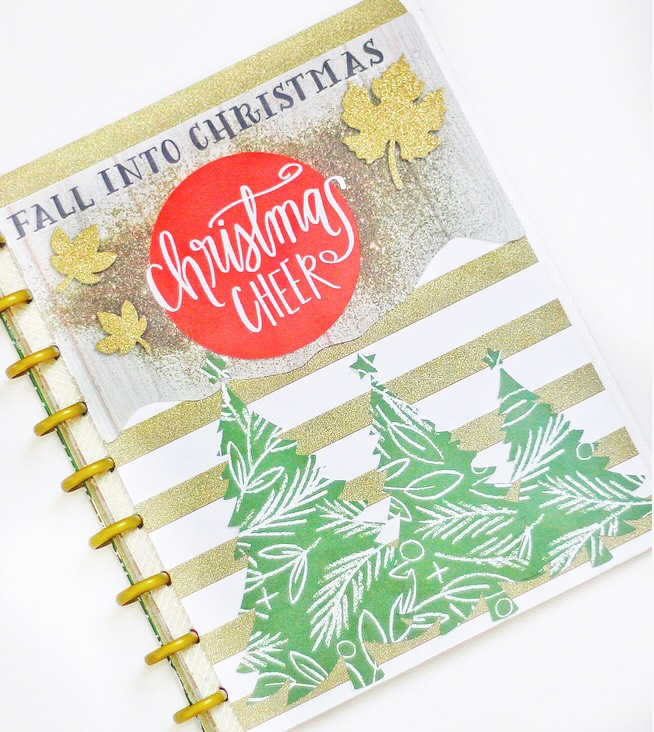 DIY custom cover using The Happy Planner™ faux laminating covers by mambi Design Team member Nicole Patterson   me & my BIG ideas