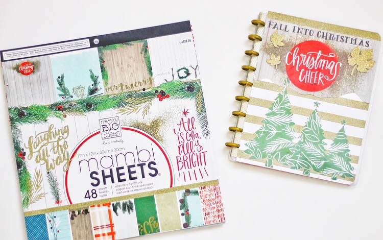 DIY custom cover using The Happy Planner™ faux laminating covers by mambi Design Team member Nicole Patterson | me & my BIG ideas