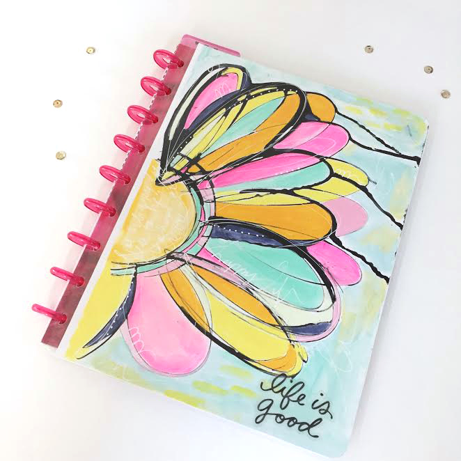 DIY custom cover using The Happy Planner™ faux laminating covers by mambi Design Team member Jen Randall | me & my BIG ideas