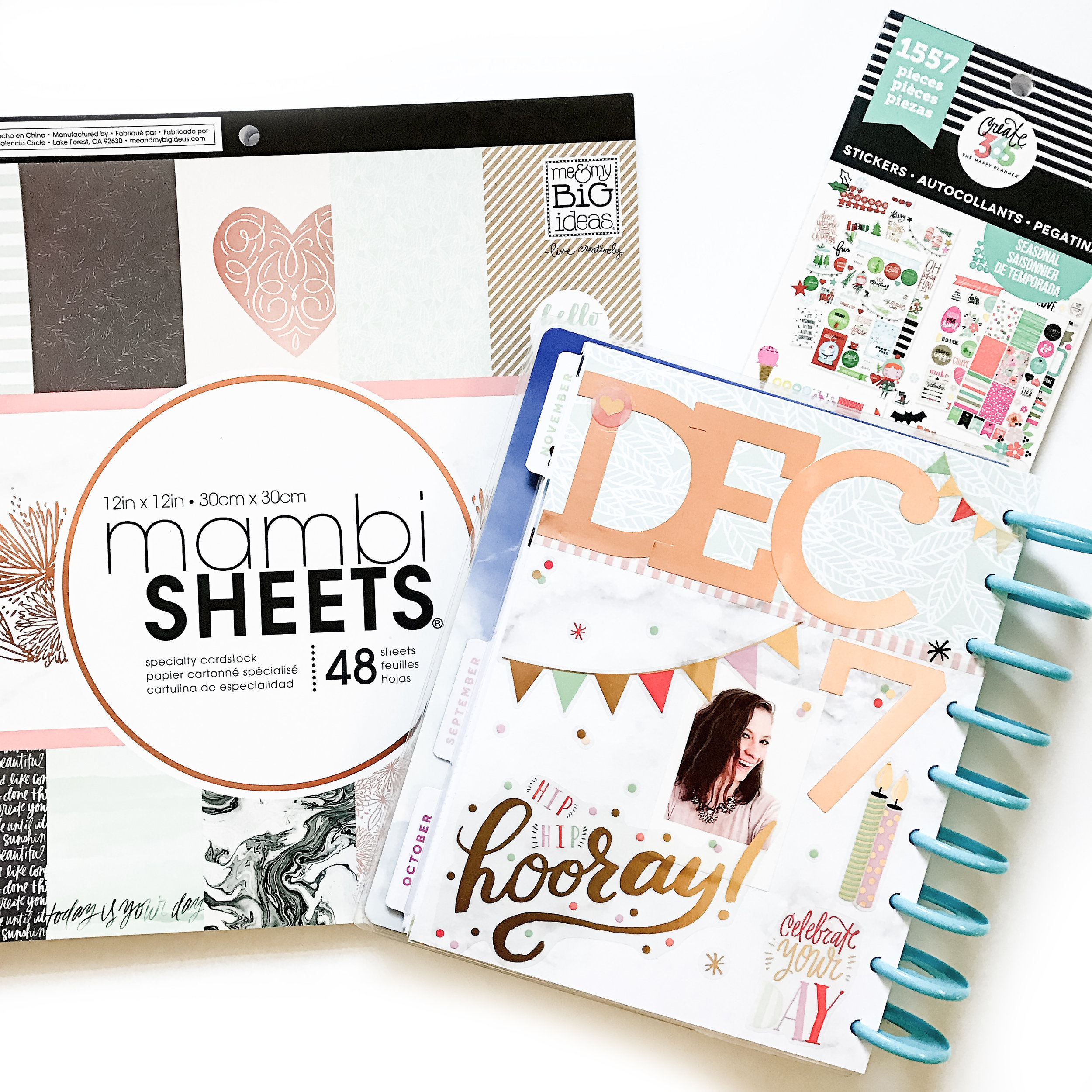 prepping for December in the CLASSIC 'Picture Quote' Happy Planner™ of mambi Design Team member Liz Nielson | me & my BIG ideas