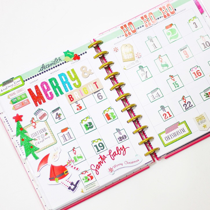 December CHRISTMAS COUNTDOWN in the BIG Happy Planner™ of mambi Design Team member Nicole Patterson | me & my BIG ideas
