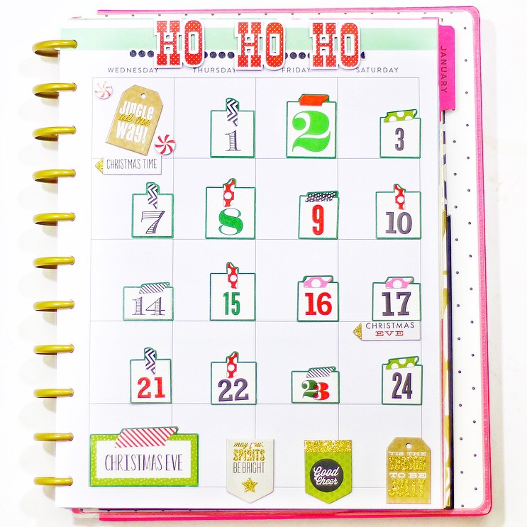 December CHRISTMAS COUNTDOWN in the BIG Happy Planner™ of mambi Design Team member Nicole Patterson   me & my BIG ideas