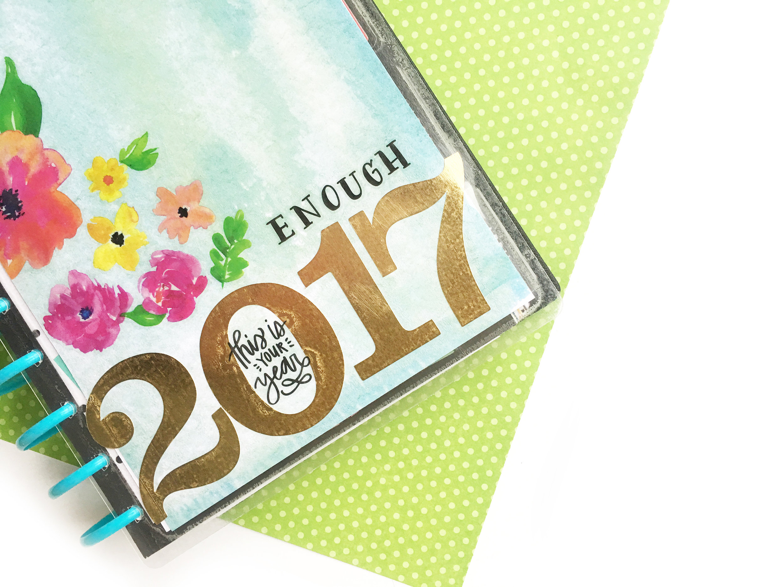 DIY 2017 Vision Board w/ The Happy Planner® custom cover pack by mambi Design Team member Katie Barton | me & my BIG ideas