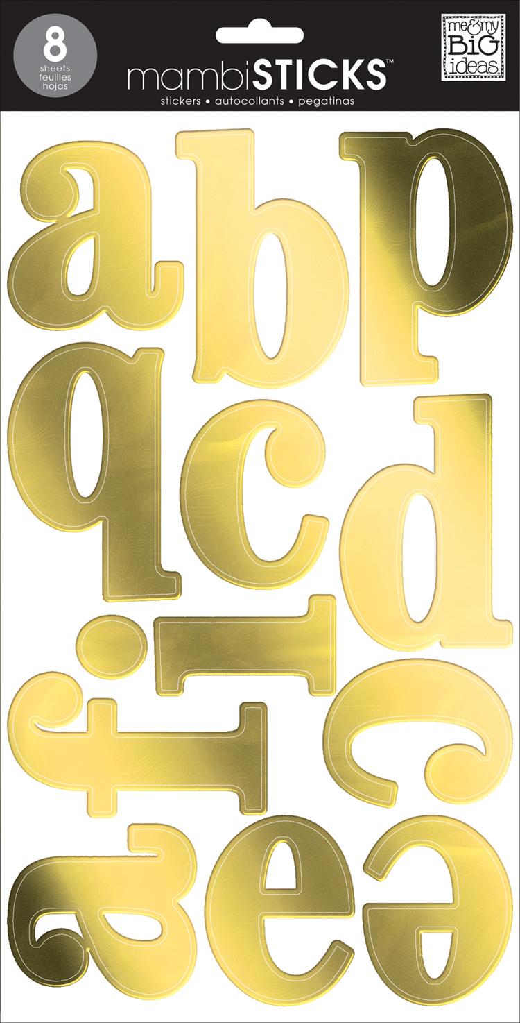 Gold Foil Serif Lowercase amambiSTICKS alphabet stickers | me & my BIG ideas.jpg