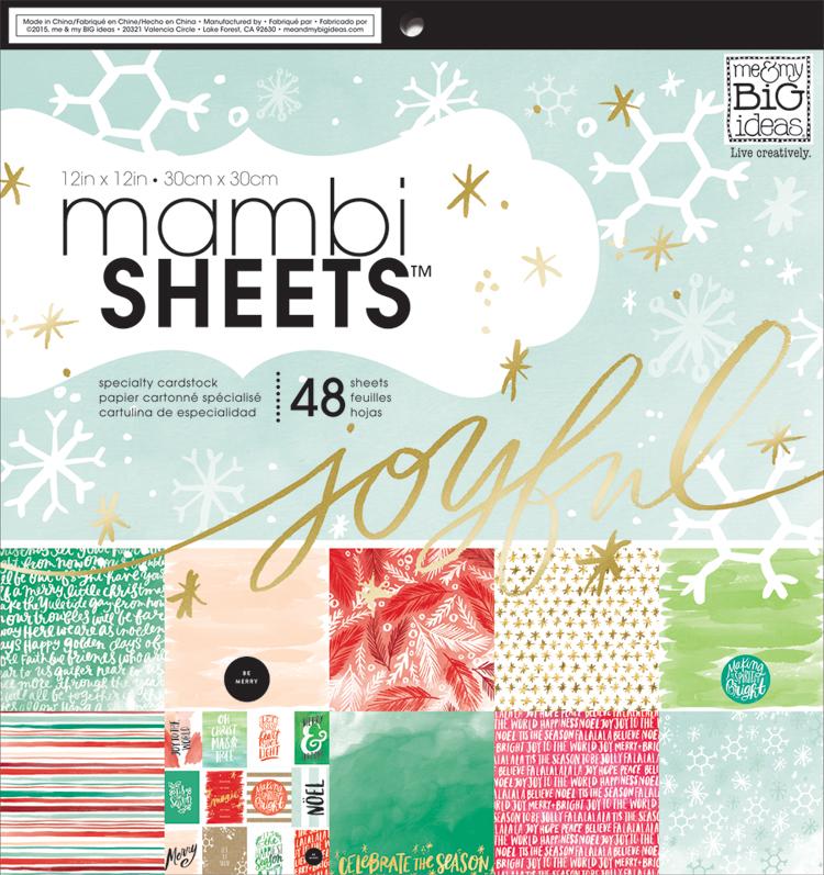 'Joyful Christmas' mambiSHEETS 12x12 paper pad | me & my BIG ideas.jpg