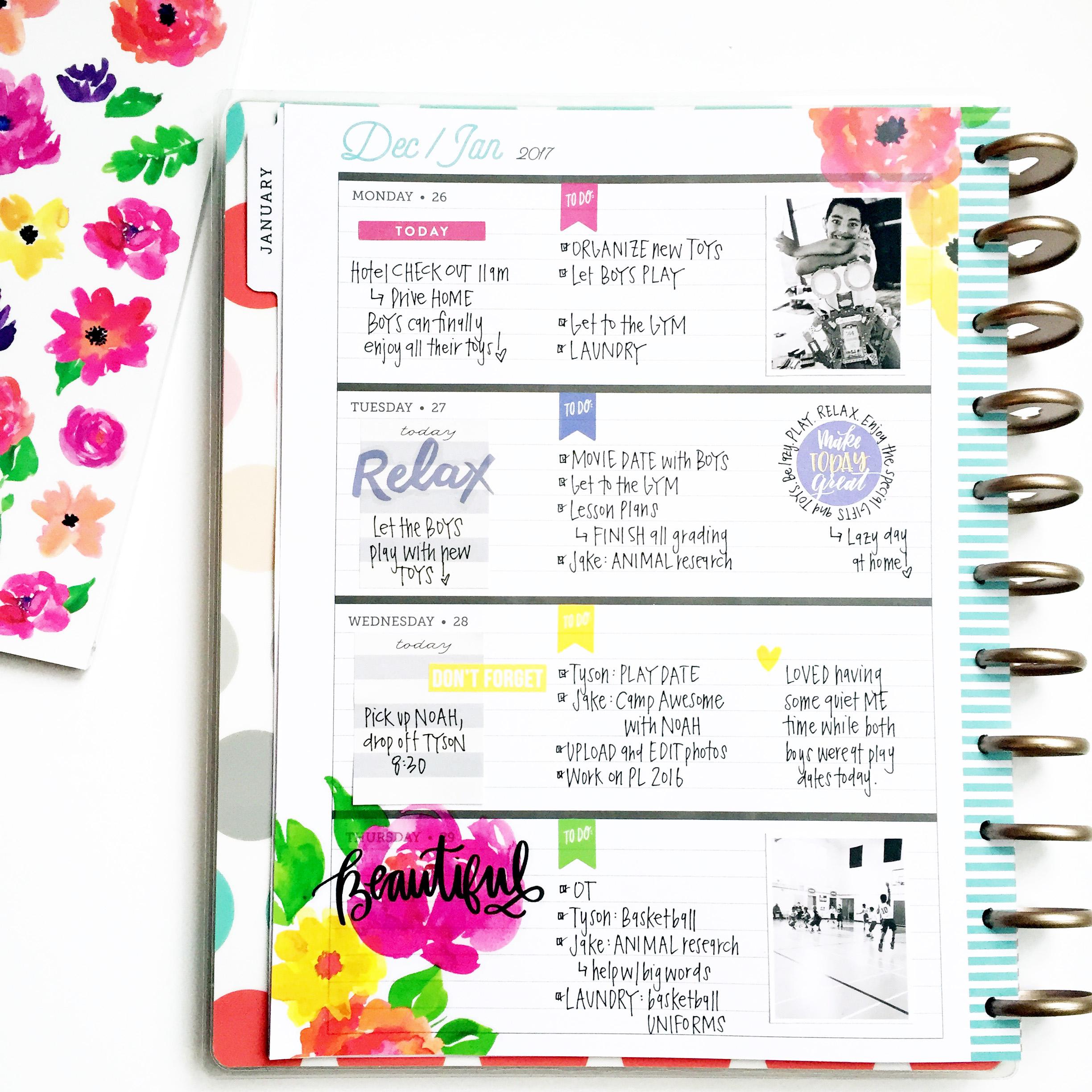 jumping in the BIG 'Delightful' Rose Gold Horizontal Happy Planner® | me & my BIG ideas