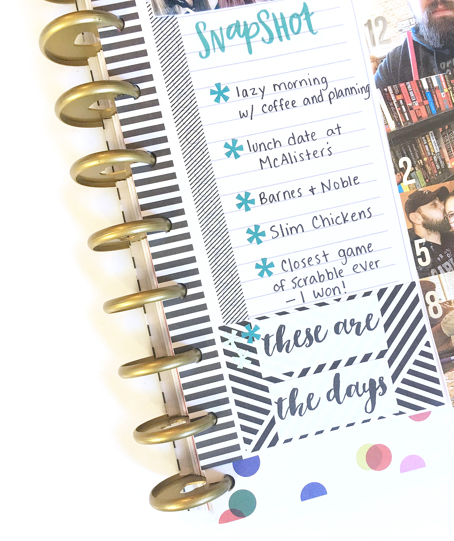 using the MINI Happy Planner® Daily Sheet for memory keeping by mambi Design Team member Katie Barton | me & my BIG ideas