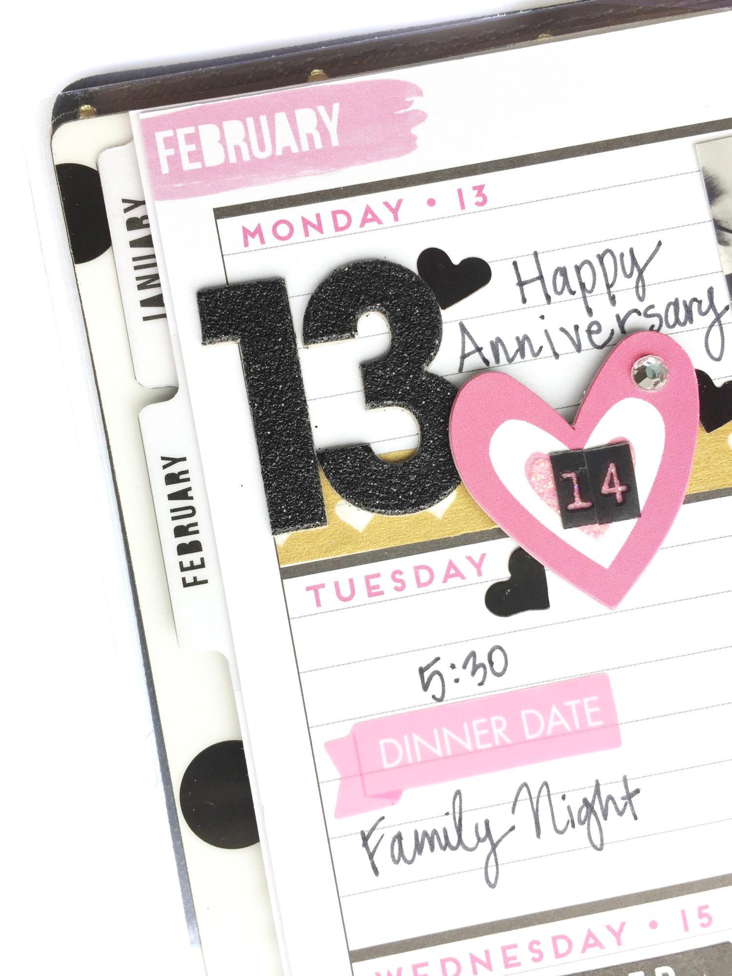Valentine's week MINI 'Happy Blooms' Happy Planner® by mambi Design Team member Jen Randall | me & my BIG ideas