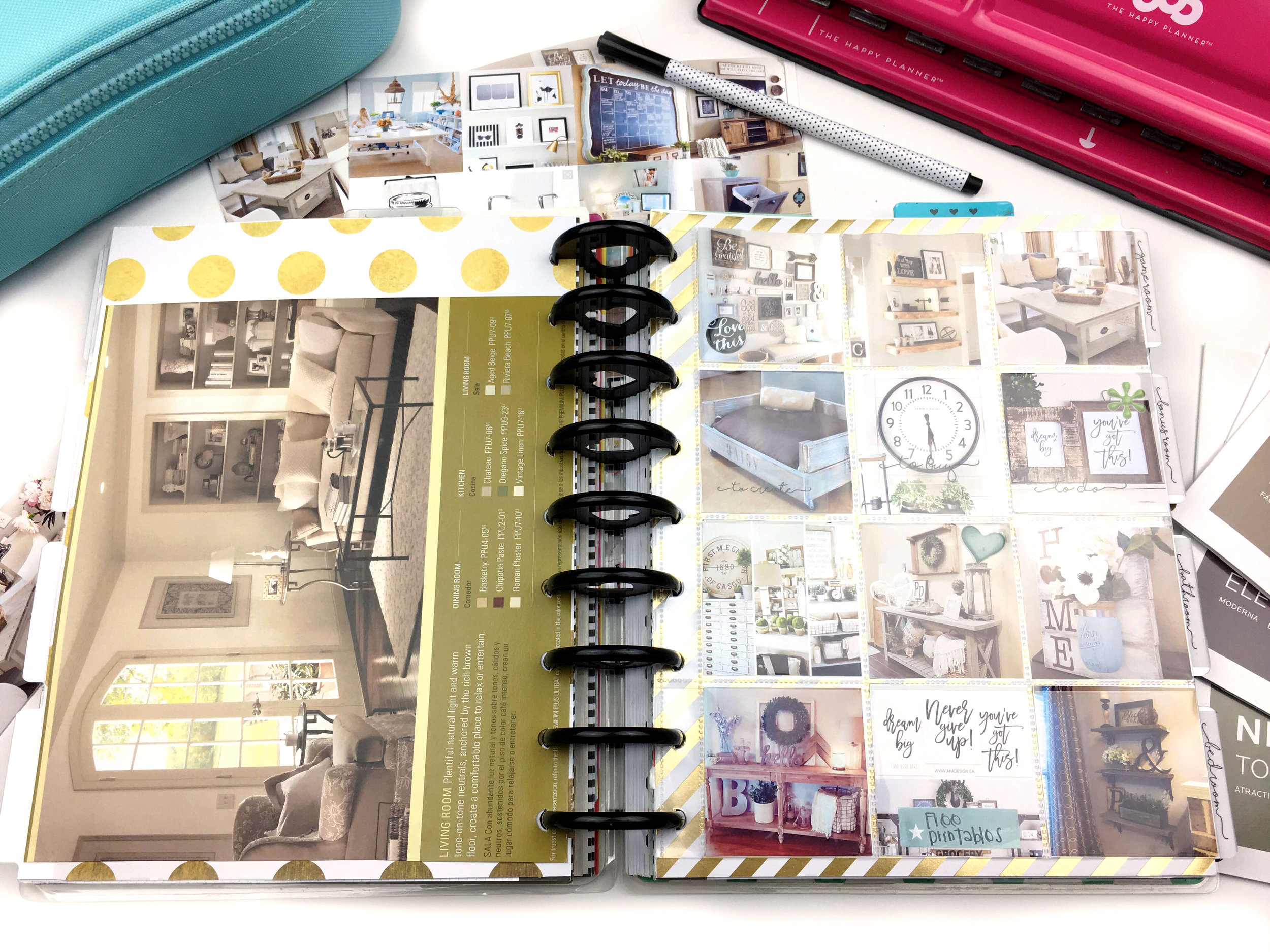 'Home Inspiration' using The Happy Planner® Punch and Pocket Pages by mambi Design Team member Chantal Kuaea | me & my BIG ideas