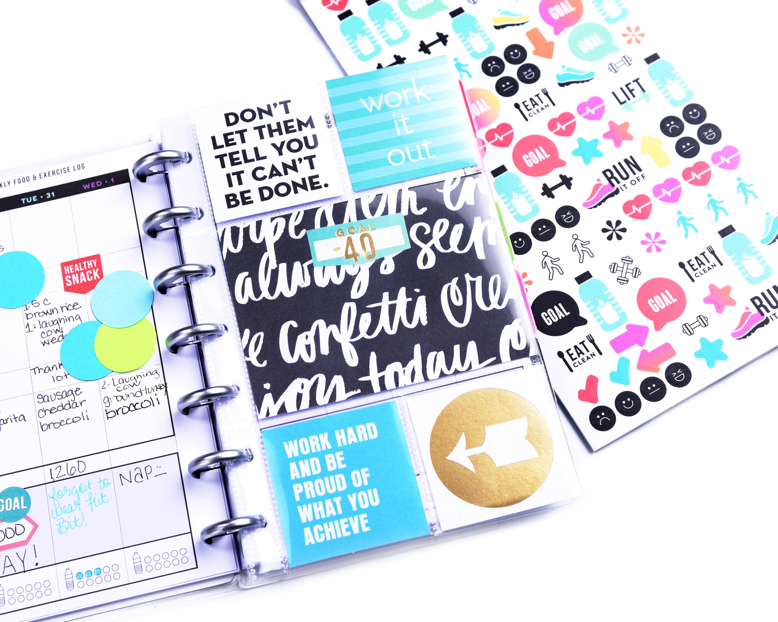 Goal Divider Pocket Page in the MINI 'Fitness' Happy Planner® by mambi Design Team member Mariel Reyes | me & my BIG ideas