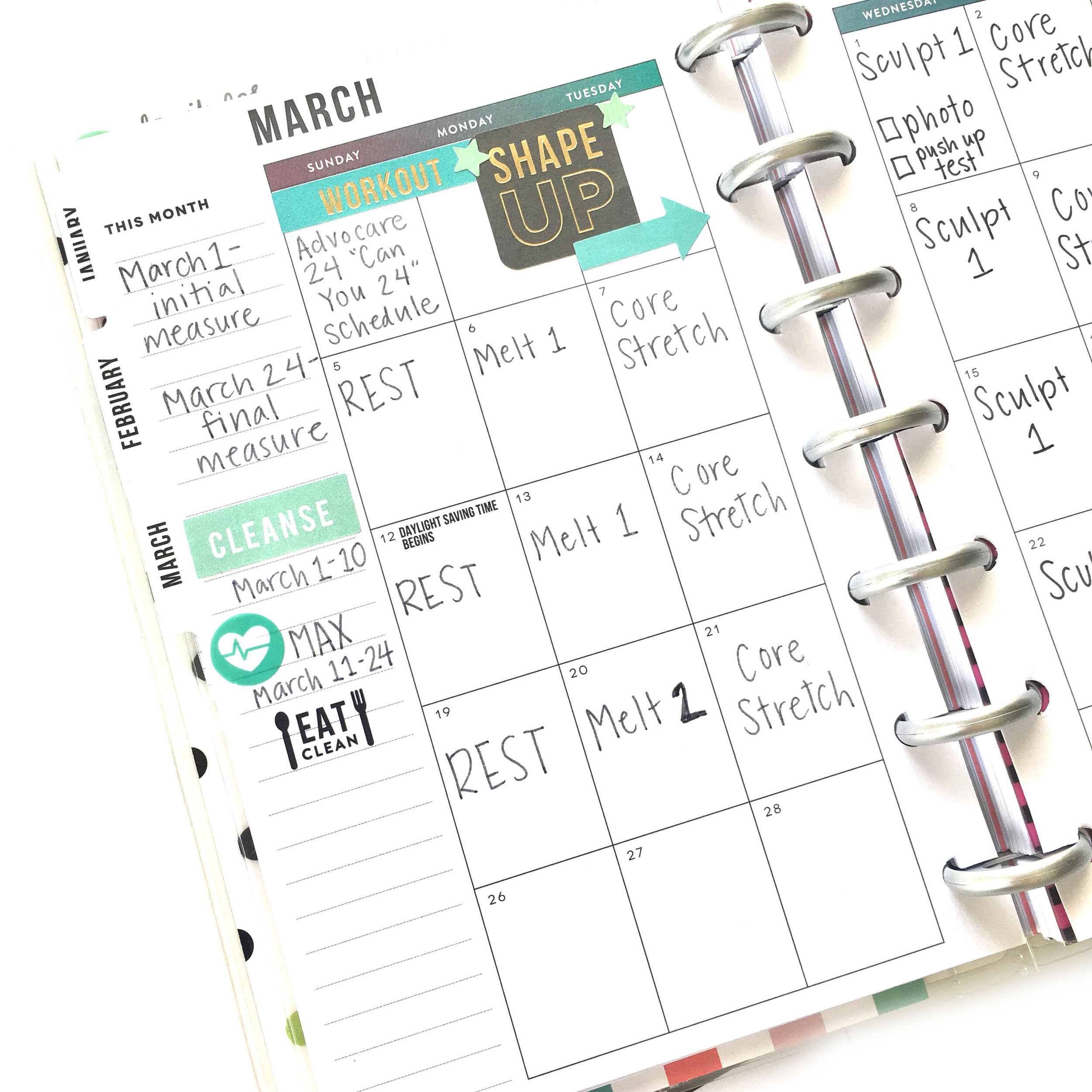 March Fitness Challenge Prep in the MINI 'Fitness' Happy Planner® of mambi Design Team member Gretchen Klobucar | me & my BIG ideas