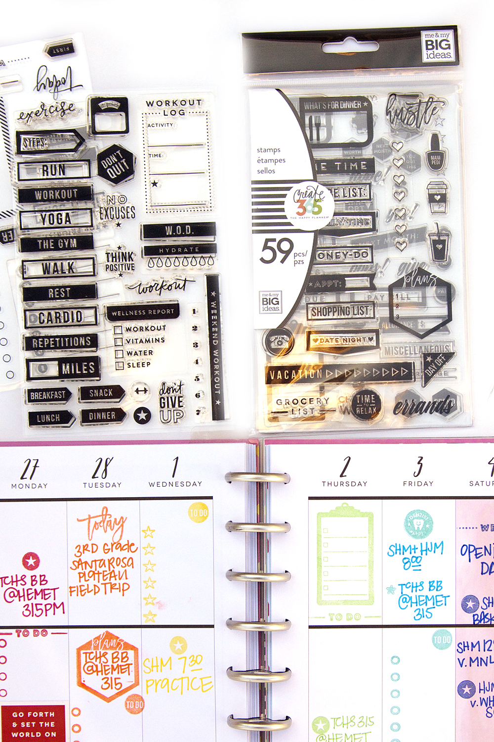 new product highlight: The Happy Planner® STAMPS!!! by mambi Design Team member Jennie McGarvey | me & my BIG ideas