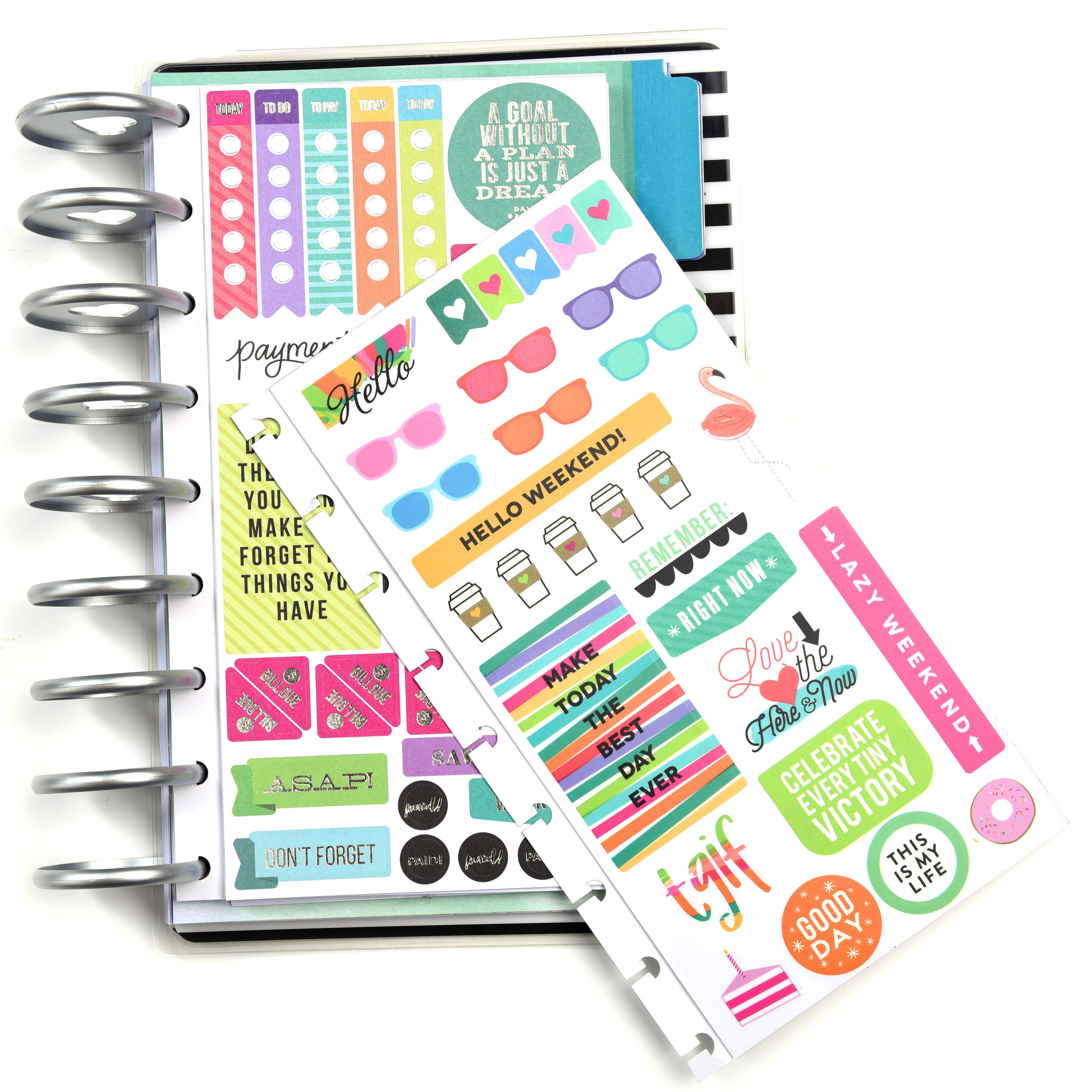 new product highlight of The Happy Planner® Sticker Storage Book b y mambi Design Team member Mariel Reyes | me & my BIG ideas