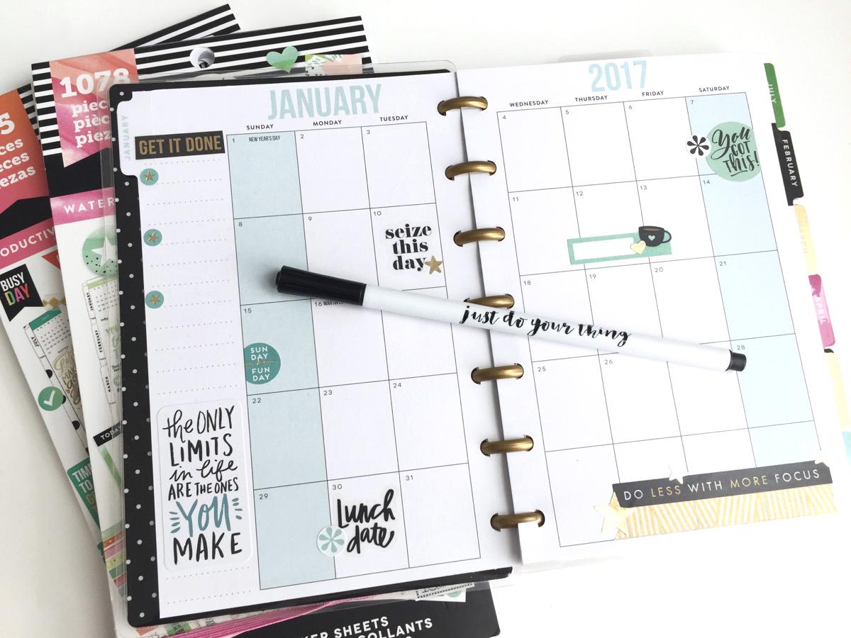 'Make It Me' MINI Happy Planner® by mambi Design Team member Jen Randall | me & my BIG ideas