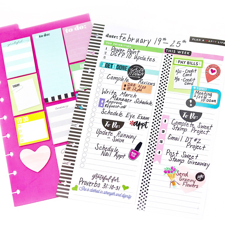 preparing to plan using sticky notes for upcoming dates by mambi Design Team member Nita Patterson | me & my BIG ideas
