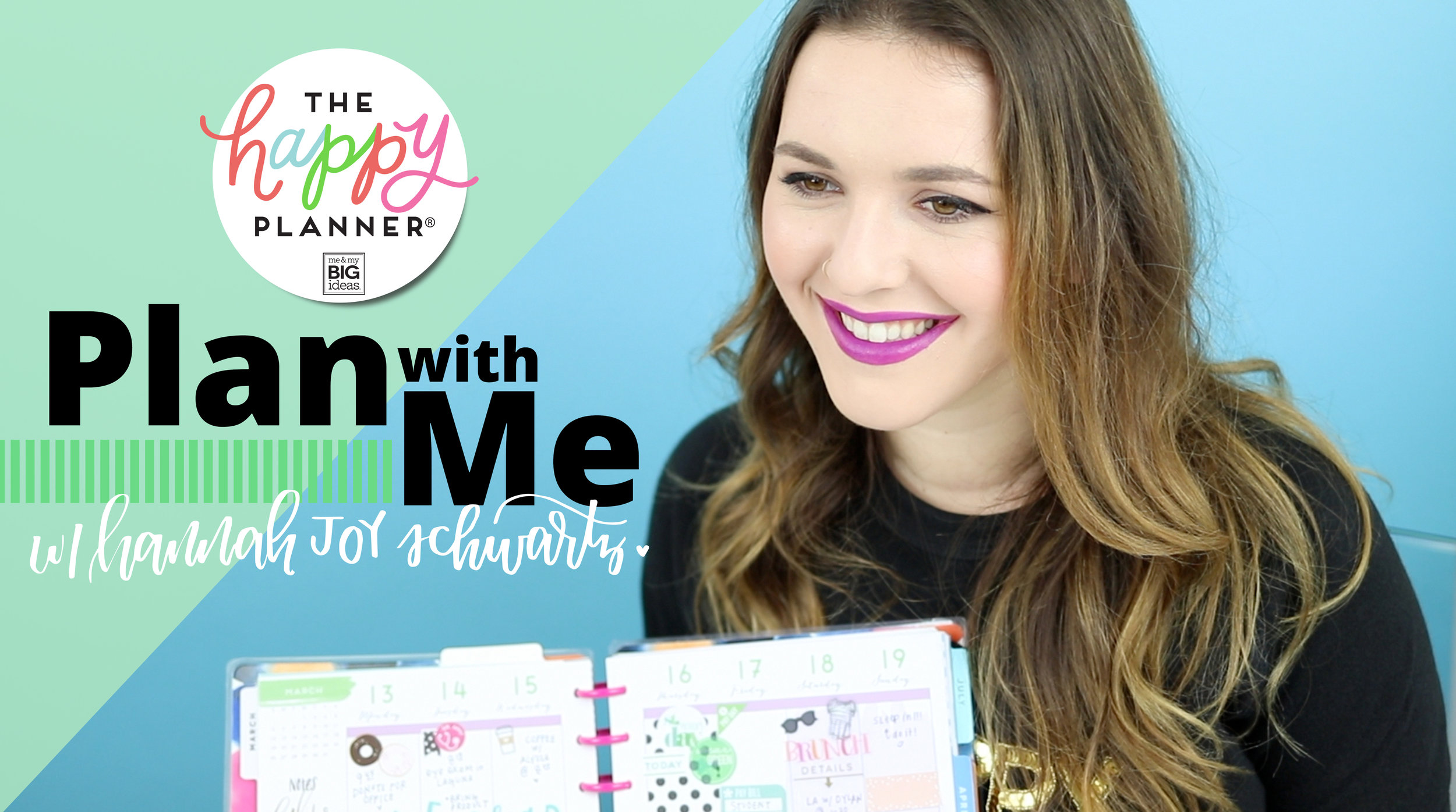 new 'Plan With Me' series on our YouTube Channel | me & my BIG ideas