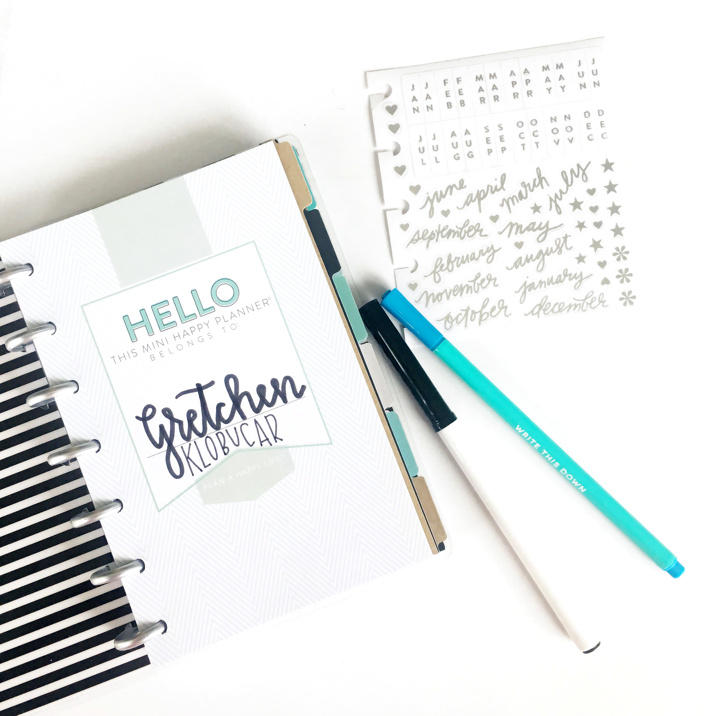 moving in to the MINI 'Well Crafted Life' Happy Planner® by mambi Design Team member Gretchen Klobucar | me & my BIG ideas