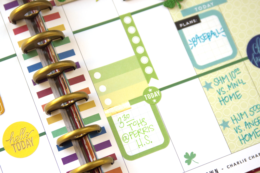 Happy St. Patrick's Day in the 'Seasonal' Happy Planner® by mambi Design Team member Jennie McGarvey | me & my BIG ideas