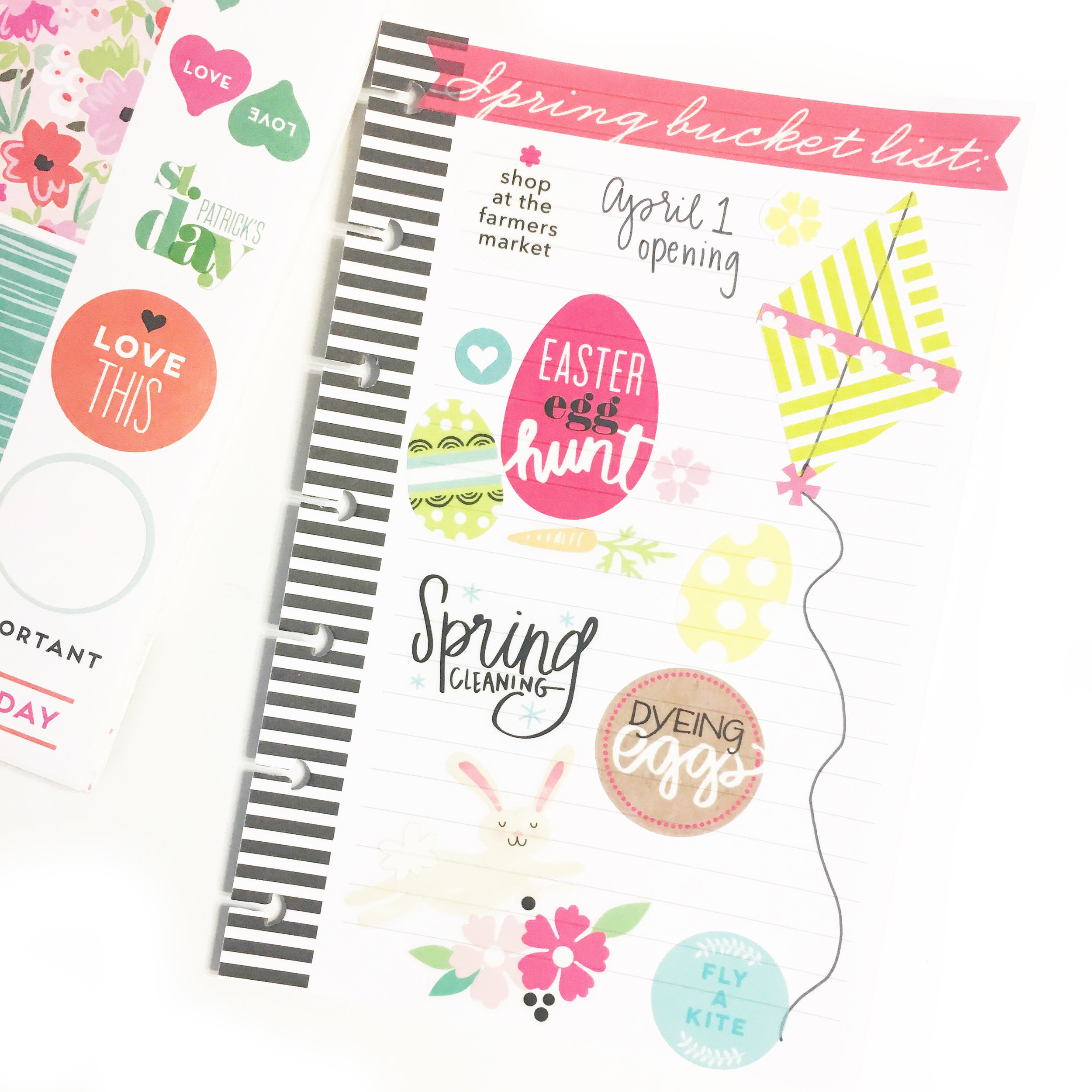 Spring Bucket List for The MINI Happy Planner® by mambi Desigm Team member Gretchen Klobucar | me & my BIG ideas