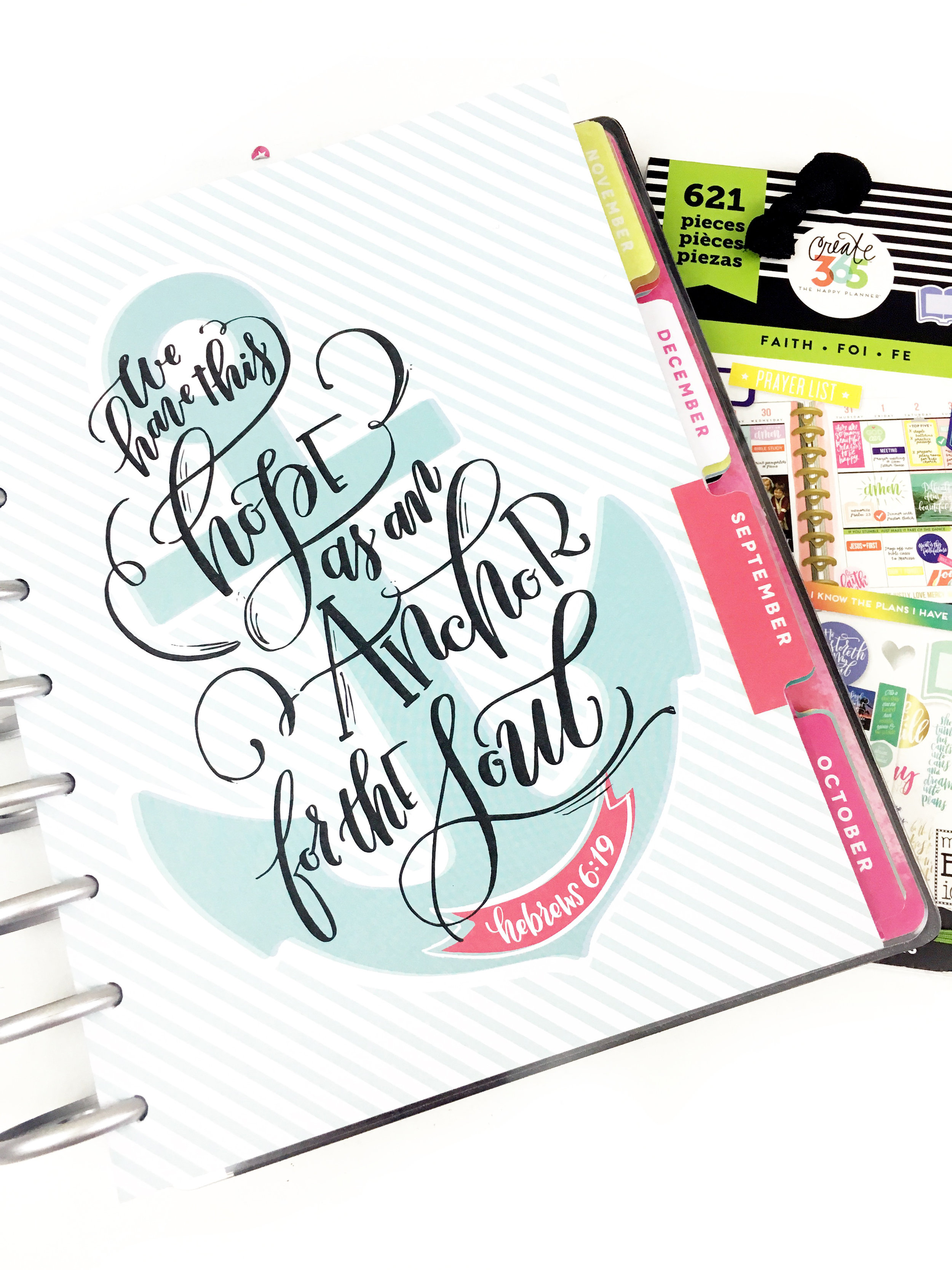 a 'Faith' Frankenplanner - combining our new Horizontal 'Faith' edition & our Rose Gold Horizontal Happy Planner® by mambi Design Team member Heather Kell | me & my BIG ideas