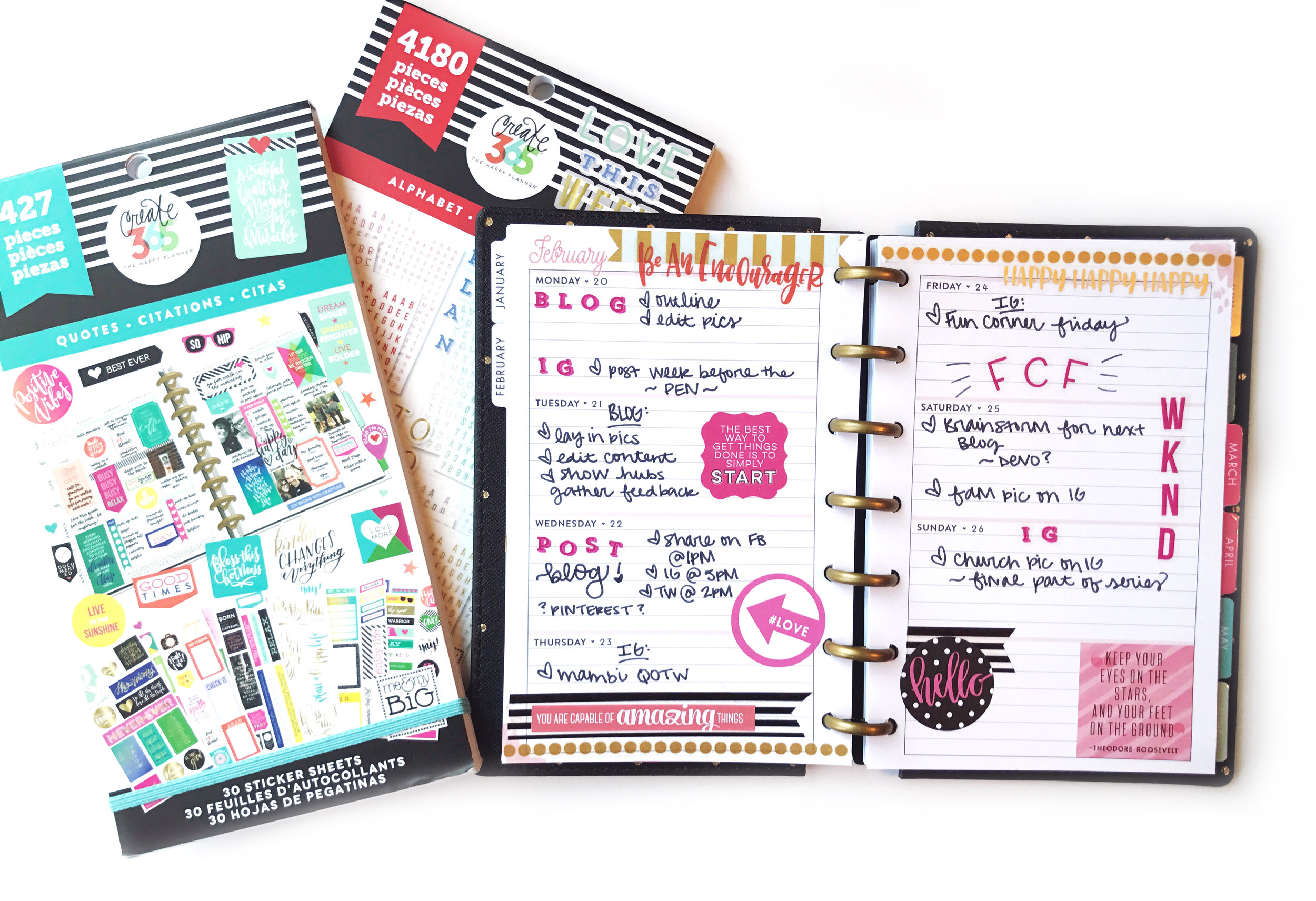 using a MINI Happy Planner® as a social media planner — me