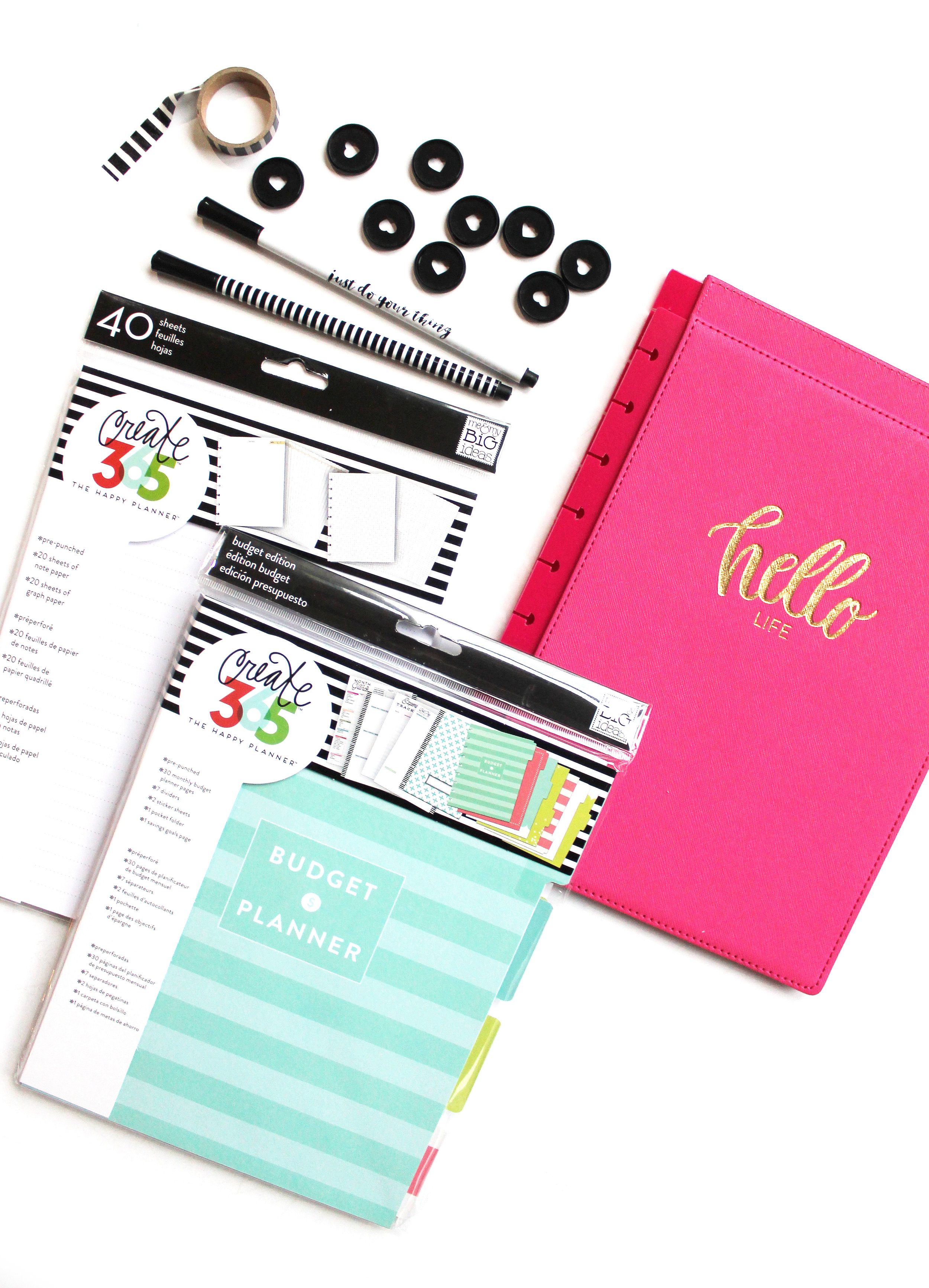 DIY 'Adulting' Notebook using Happy Planner® accessories & the Budget Extension Pack by mambi Design Team member Katie Barton | me & my BIG ideas
