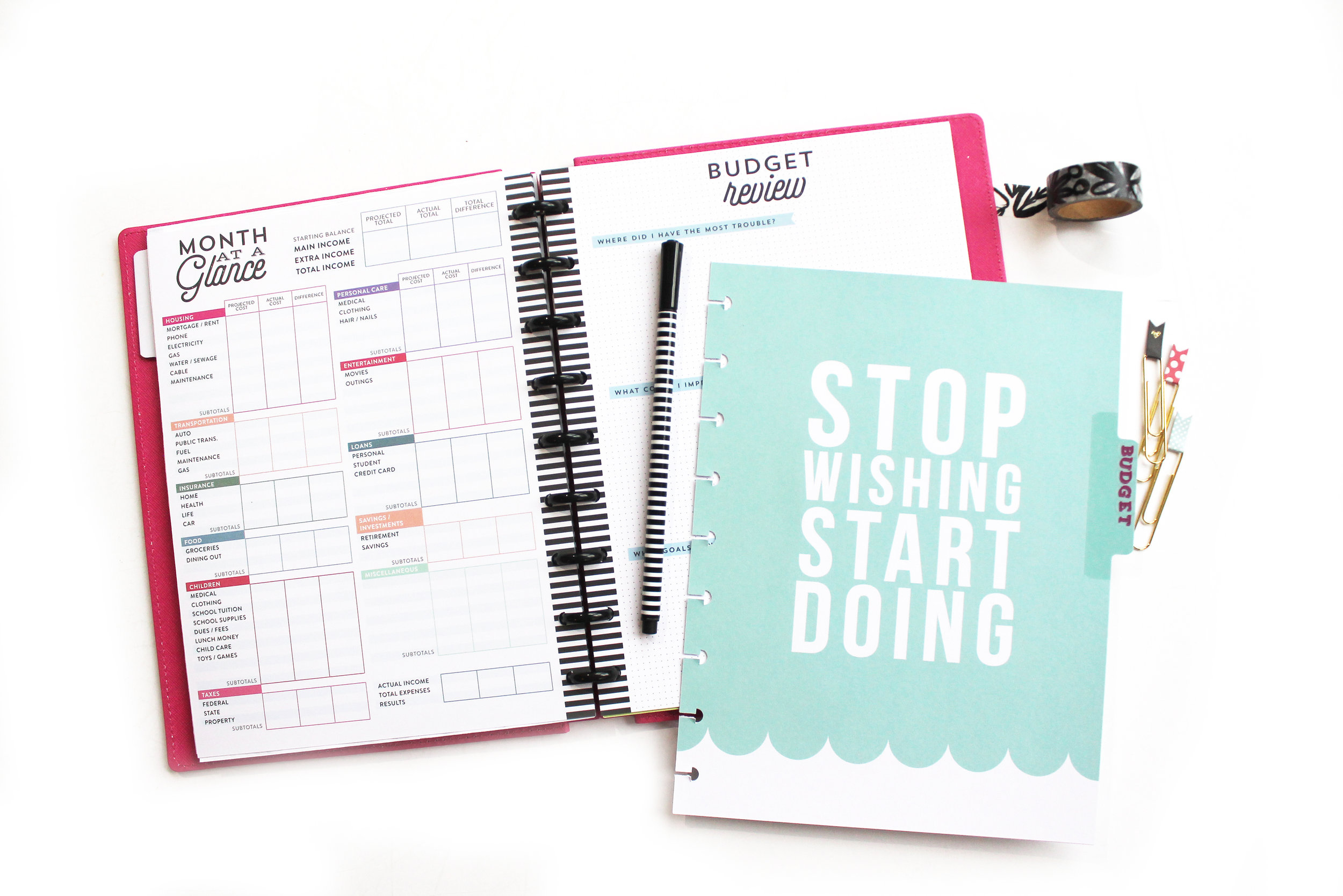 DIY 'Adulting' Notebook using Happy Planner® accessories