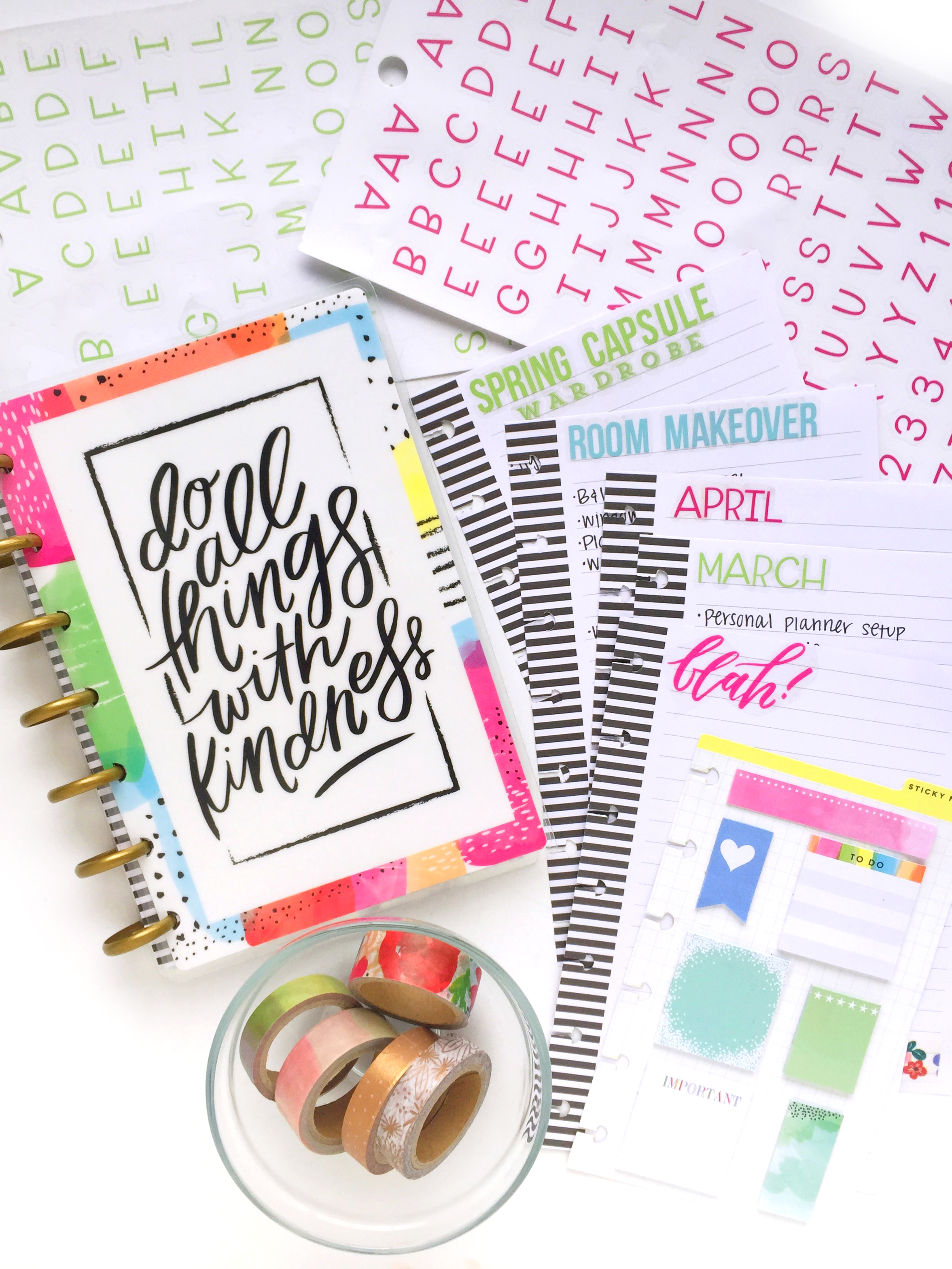 mini Happy Planner® notebook by mamib Design Team member Marisa Yciano | me & my BIG ideas