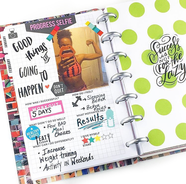 'planning a fit life' in the MINI Fitness Happy Planner® by mambi Design Team member Nita Patterson | me & my BIG ideas