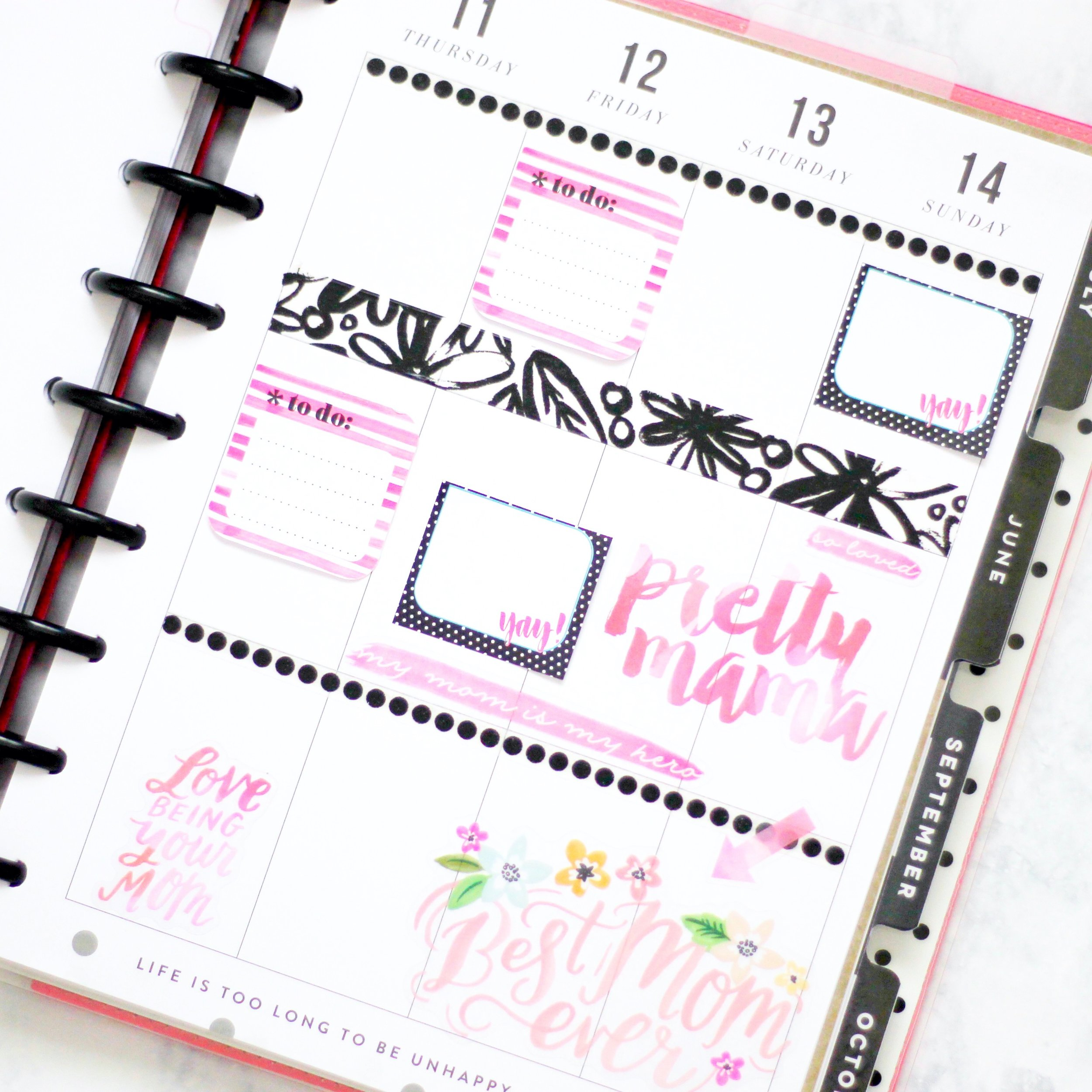 Mother's Day week #beforethepen in the CLASSIC 'This is Your Year' Happy Planner® w/ mom-themed mambiSTICKS stickers by Design Team member Nicole Patterson | me & my BIG ideas