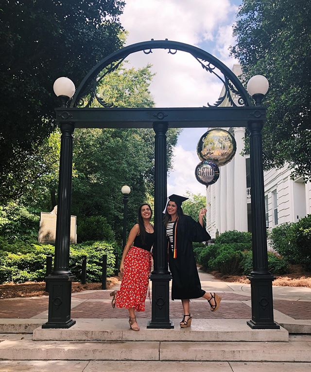 Two Dawgs in one house. Feels good to walk these streets.  #UGAgrad #GODAWG #shesasupersenior