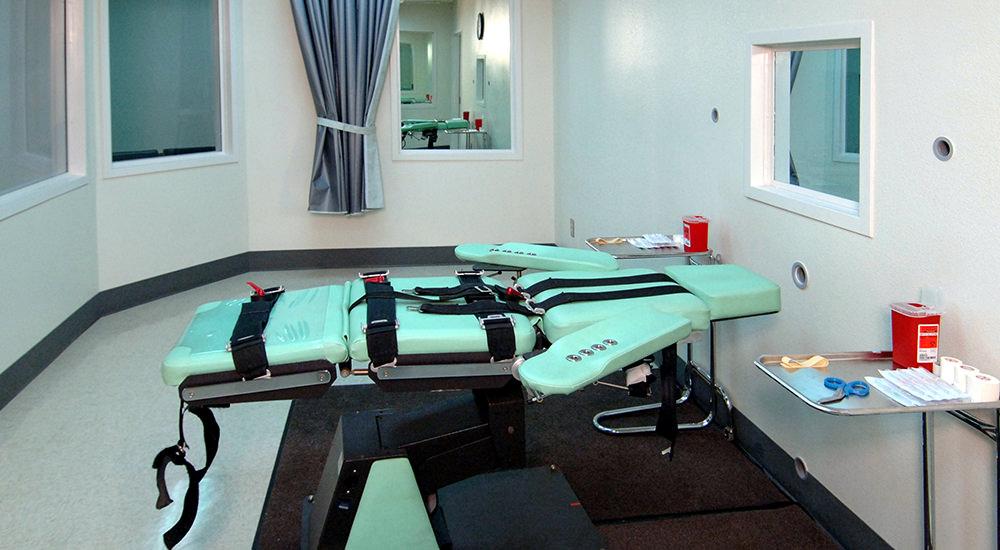 Sala de ejecución por inyección letal en San Quentin, California