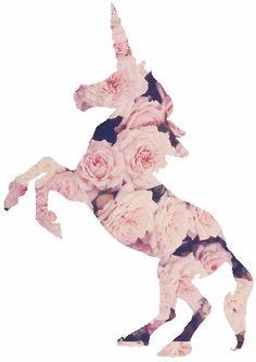 Unicorn wearing roses