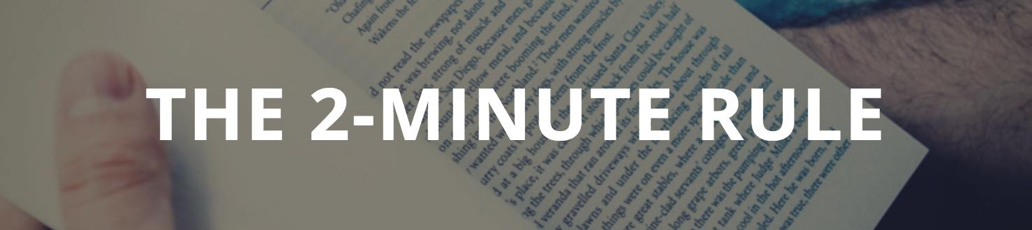 2-minute rule banner
