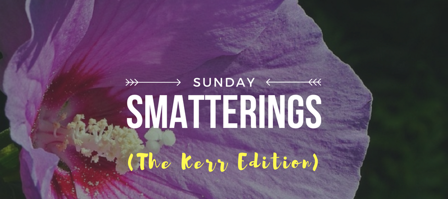 Sunday Smatterings (The Kerr Edition) 8.6.17