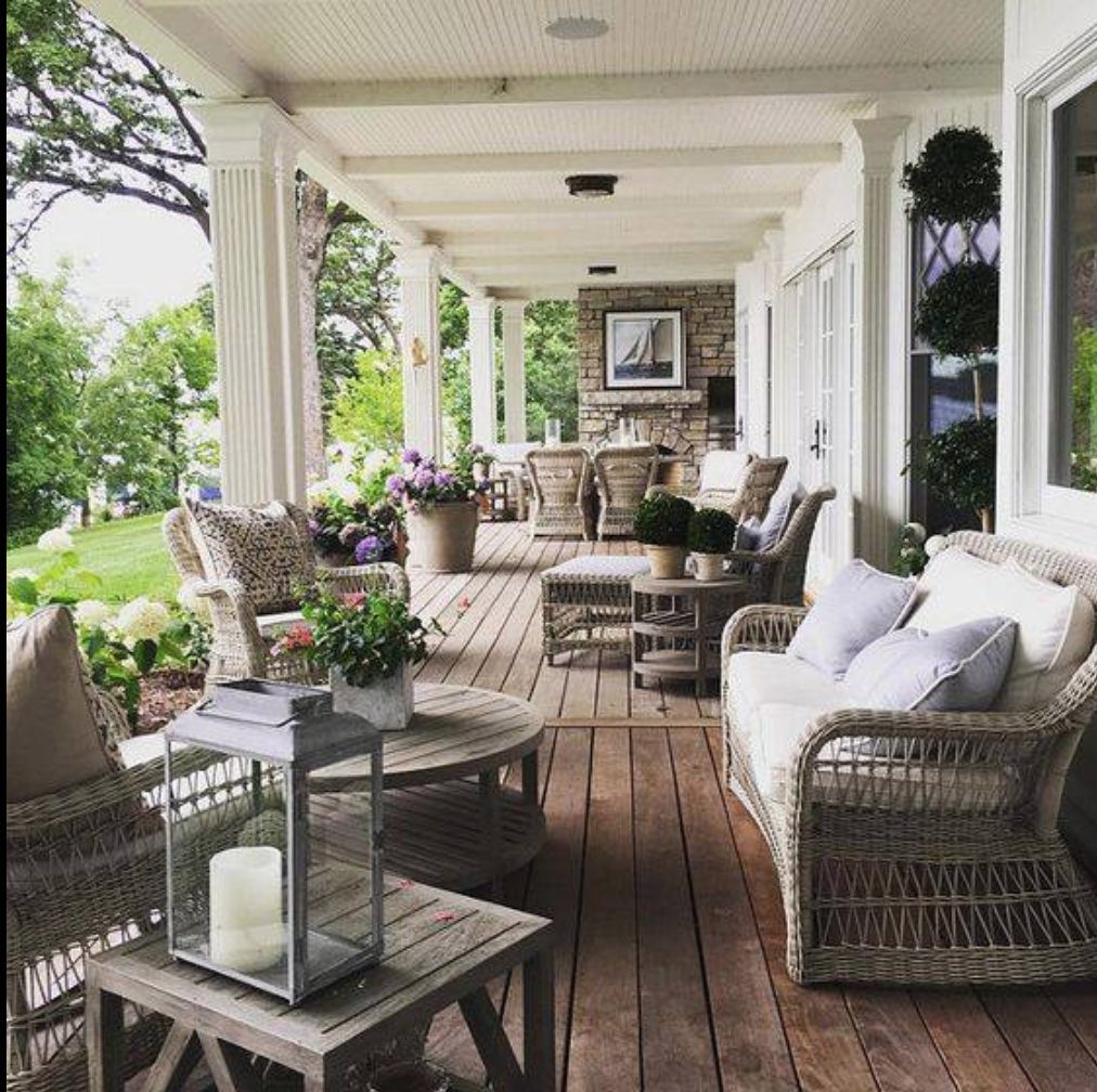 The perfect porch for reading and sipping tea