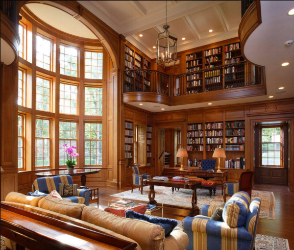 This is the home library I aspire to
