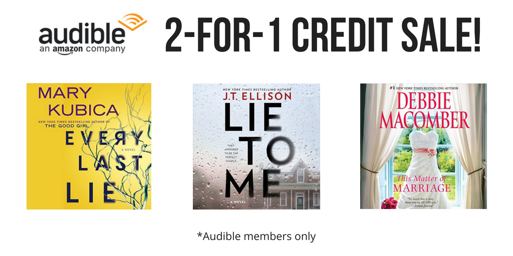 Audible 2-for-1 credit sale!