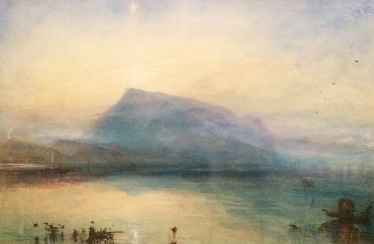 The Blue Rigi Water on Paper; 1842