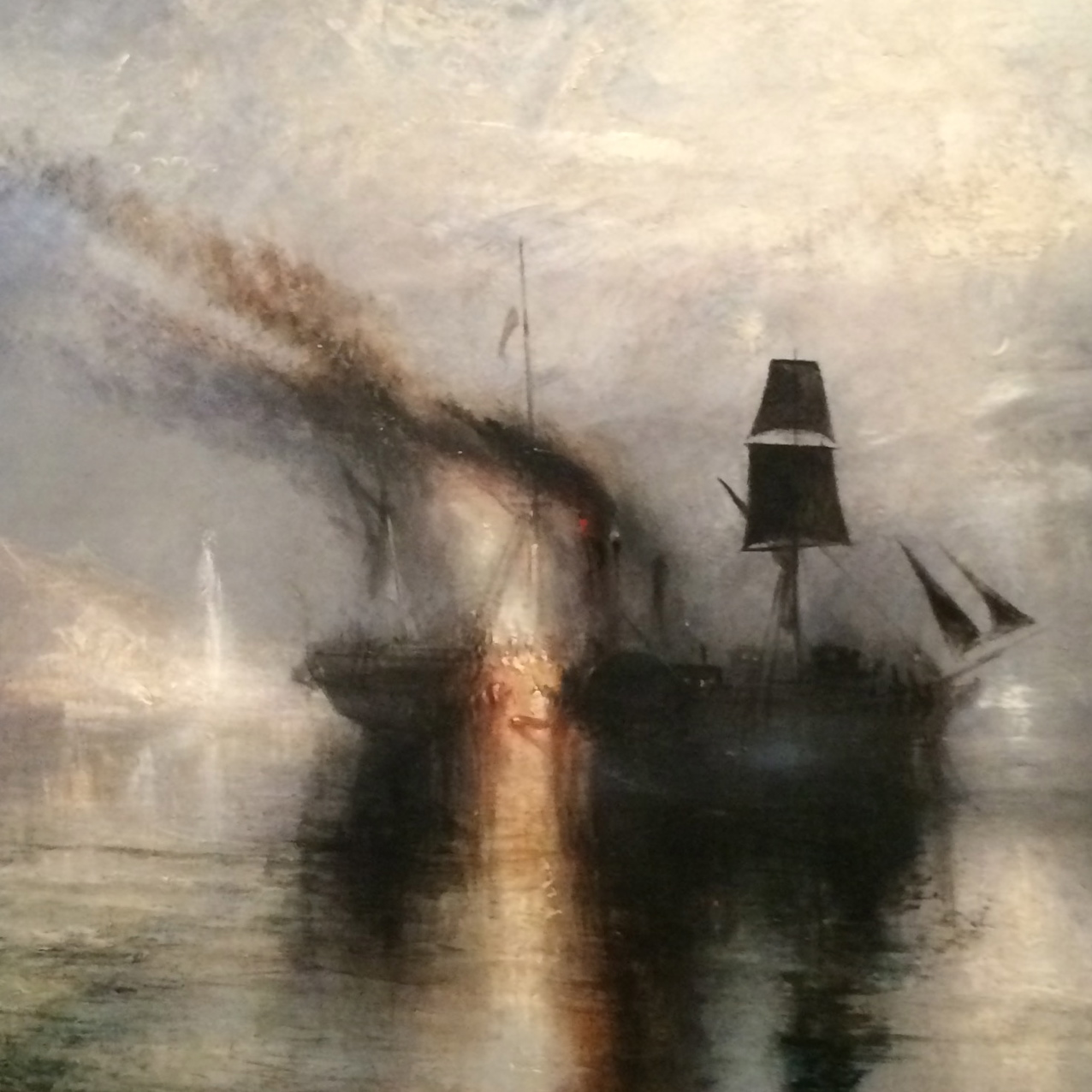 Peace - Burial at Sea (detail) Oil on canvas; exhibited 1842