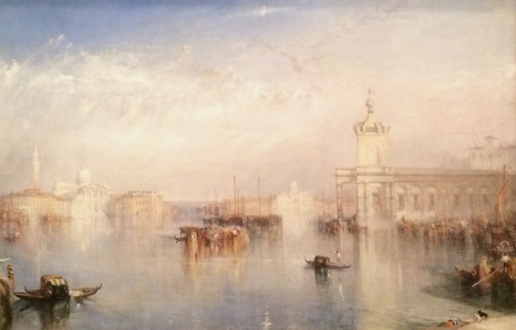 The Dogano, San Giorgio, Citalla, from the Steps of the Europa Oil on canvas; exhibited 1842