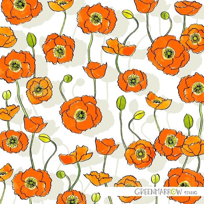 GreenmarrowStudio_OrangePoppies