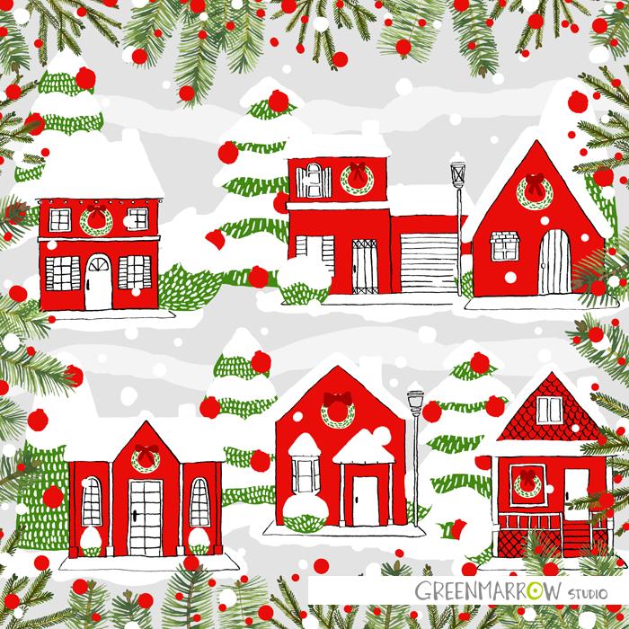 GreenmarrowStudio_ChristmasHouses