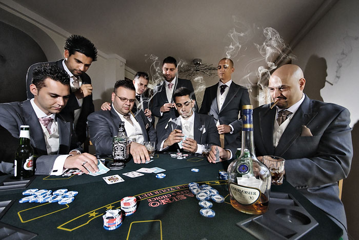 London wedding photographer, Film Noir, Male Groups at weddings, Poker Game, cigars, lighting.jpg