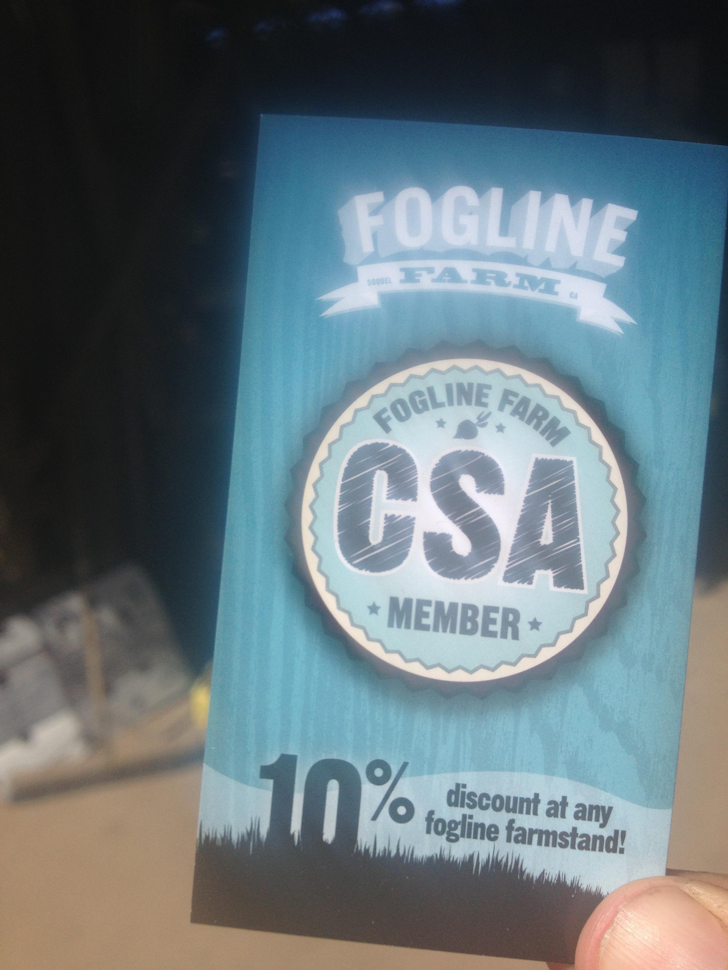 Fogline Member Cards.