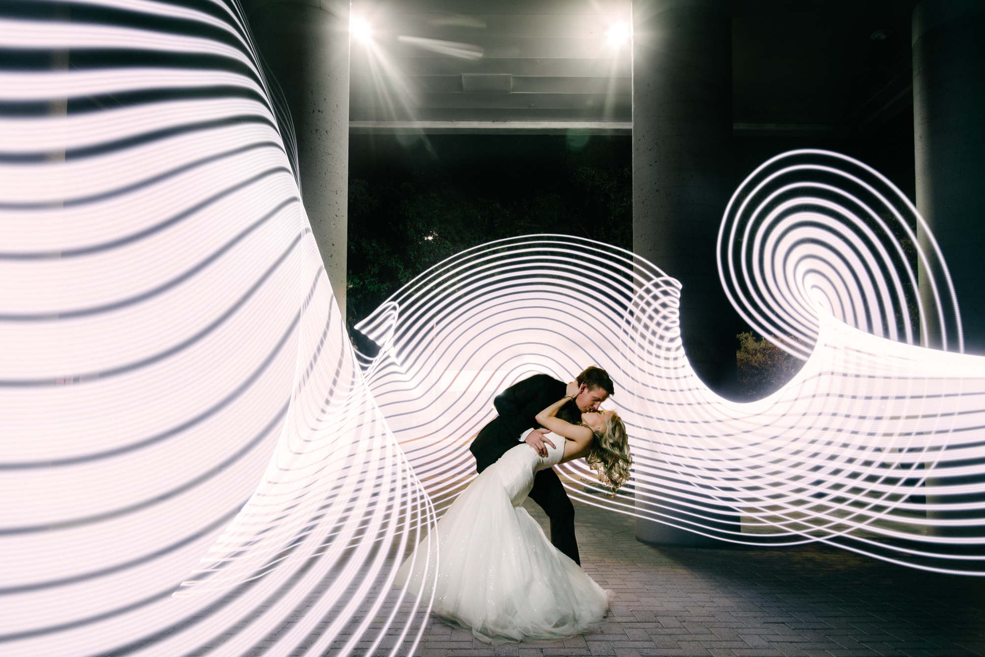 Pixelstick Bride and Groom