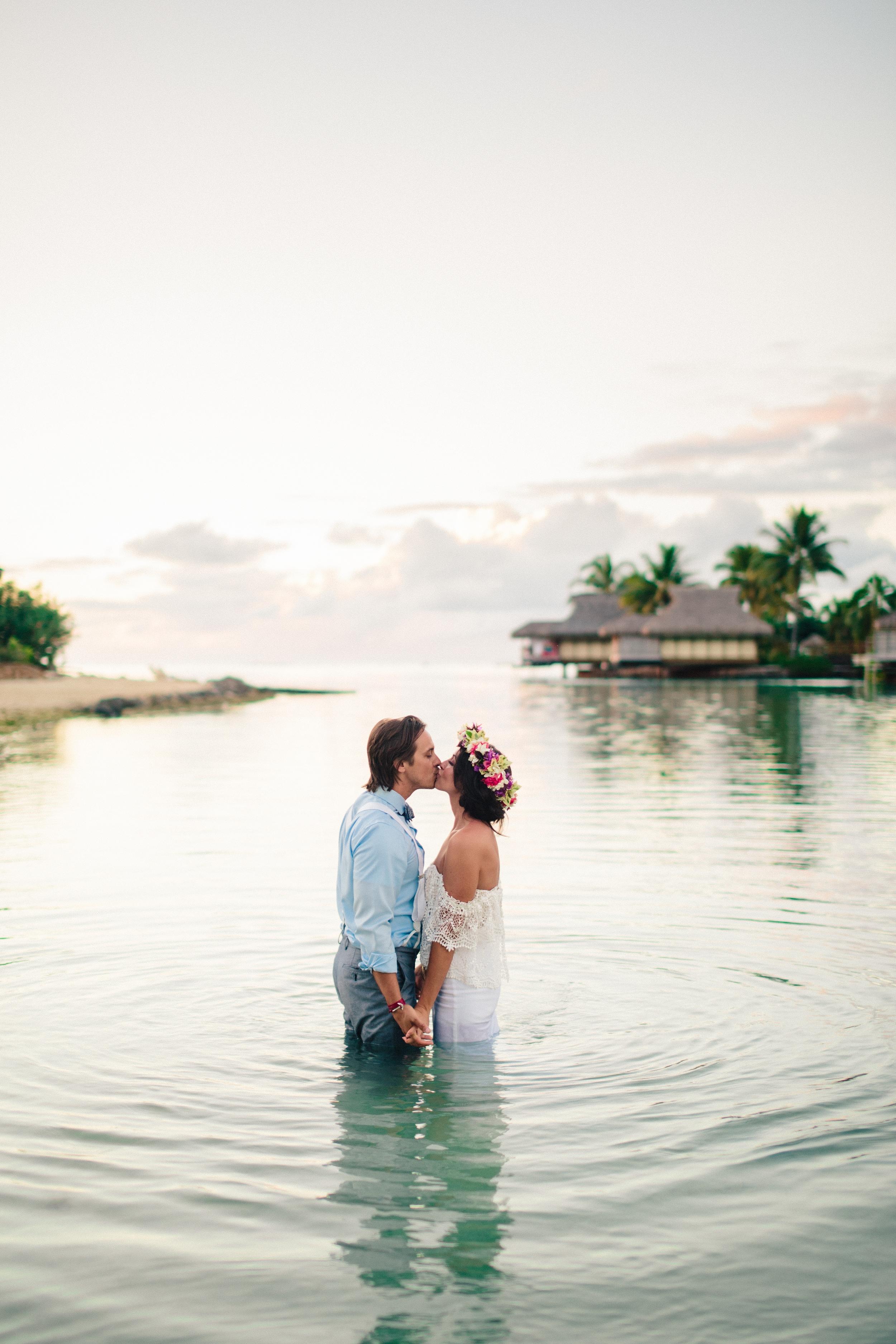 Carlye & Justin  Moorea, Tahiti