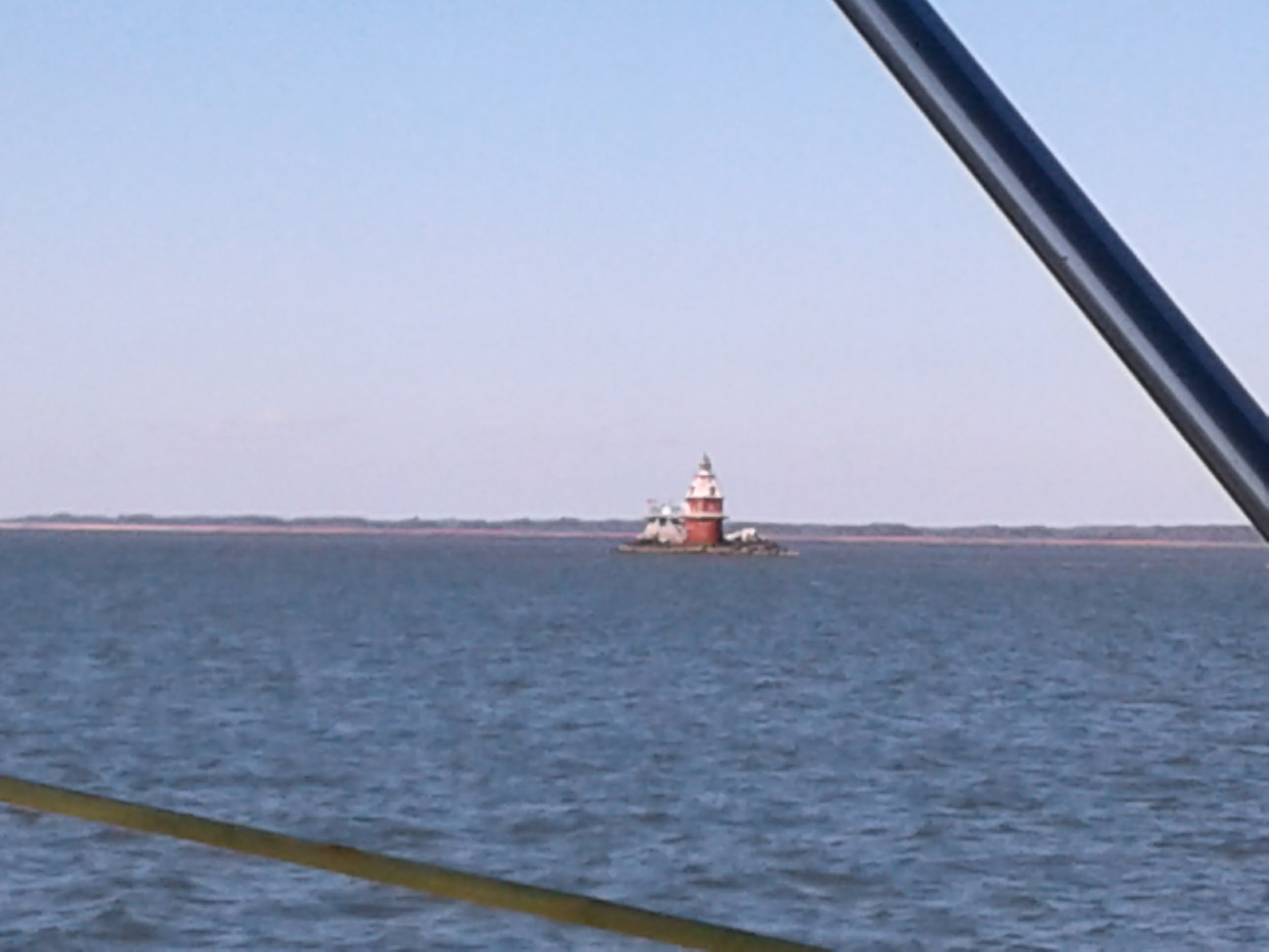 Lighthouse in the Delaware. Wrong angle to get the Nuclear plant too.
