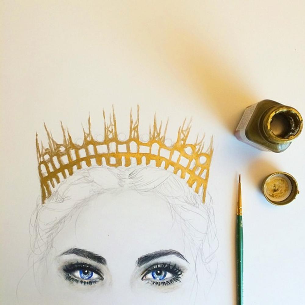 Cat Novak Art Illustration Design –Crown
