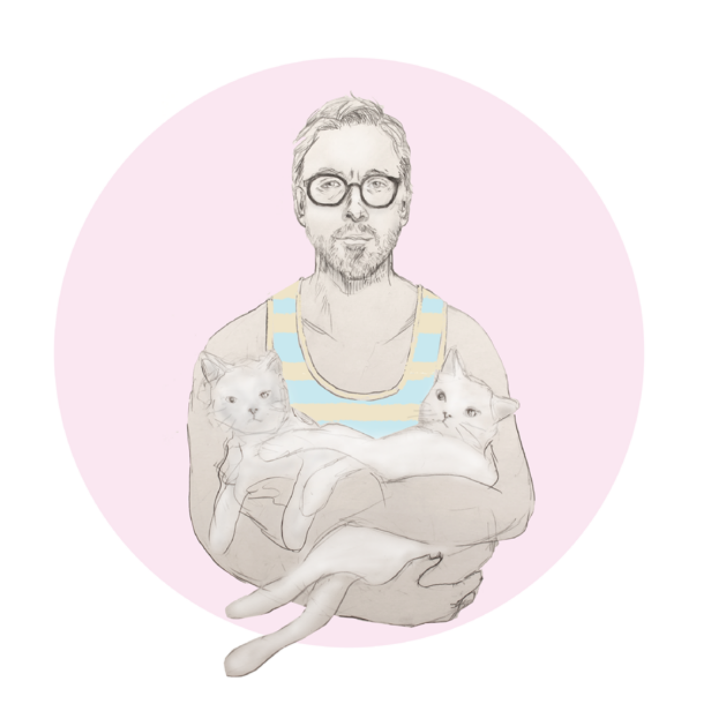 Ryan Gosling Holding Cats
